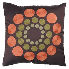 Rizzy Home Circles Geometric Throw Pillow