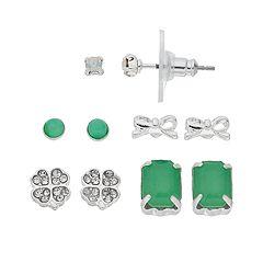 LC Lauren Conrad Mint Green Nickel Free Stud Earring Set