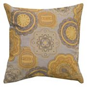 Rizzy Home Floral Medallion Throw Pillow