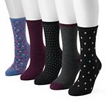 Women's SONOMA Goods for Life® 5-pk. Floral Crew Socks