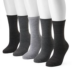 Women's SONOMA Goods for Life™ 5-pk. Solid Crew Socks