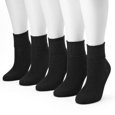 Women's SONOMA Goods for Life? 5-pk. Ribbed Cuff Crew Socks