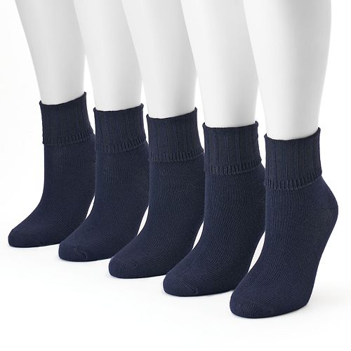 Women's SONOMA Goods for Life® 5-pk. Ribbed Cuff Crew Socks