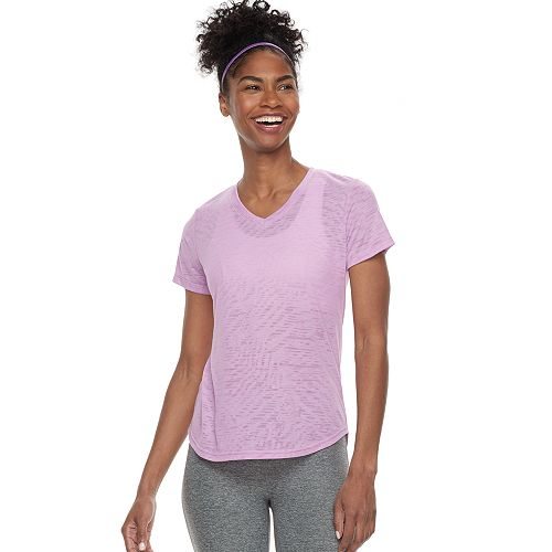 Petite Tek Gear® Moisture-Wicking V-Neck Tee