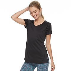 Women's Petite Tek Gear® Performance Base layer Side-Slit Tee