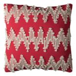 Rizzy Home Frayed Chevron Throw Pillow
