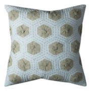 Rizzy Home Geometric Medallions Applique Throw Pillow