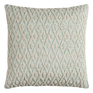 Rizzy Home Textured Lattice Throw Pillow