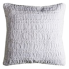 Rizzy Home Technique Textured Ruched Throw Pillow