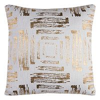 Rizzy Home Abstract Textured Foil Print Throw Pillow