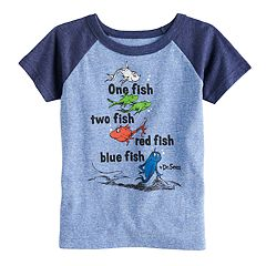 Toddler Boy Jumping Beans® Dr. Seuss 'One Fish, Two Fish' Raglan Graphic Tee