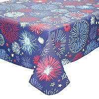 Celebrate Americana Together Vinyl Fireworks Tablecloth