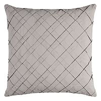 Rizzy Home Pleated Diagonal Cross Throw Pillow