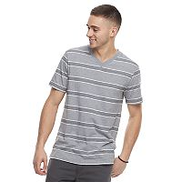 Men's Urban Pipeline Striped V-Neck Tee
