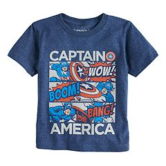 Toddler Boy Jumping Beans® Captain America Panels Graphic Tee