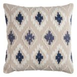 Rizzy Home Diamonds Geometric Textured Throw Pillow
