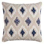 Rizzy Home Diamonds Geometric Textured Throw Pillow