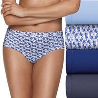 Hanes Ultimate 4-pack Comfort Microfiber Cool Comfort Low Rise Brief Panty HXMFBF