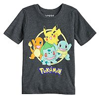 Boys 4-10 Jumping Beans® Pokemon Pikachu, Squirtle, Charmander & Bulbasaur Graphic Tee
