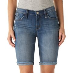 Women's Rock & Republic® Kristy Cuffed Bermuda Jean Shorts