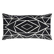 Rizzy Home Bold Geometric Oblong Throw Pillow