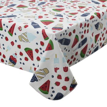 Celebrate Americana Together Vinyl Snack Toss Tablecloth