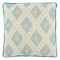 Rizzy Home Woven Diamond Geometric Throw Pillow
