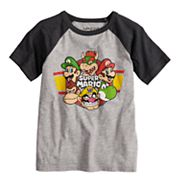 Boys 4-10 Jumping Beans® Super Mario Bros. Raglan Graphic Tee