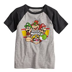 Boys 4-10 Jumping Beans® Nintendo Super Mario Bros. Raglan Graphic Tee