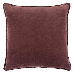 Rizzy Home Velvet Solid Throw Pillow