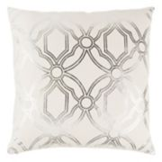 Rizzy Home Geometric Metallic Throw Pillow