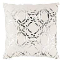 Rizzy Home Geometric Metallic Throw Pillow