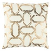 Rizzy Home Geometric Metallic I Throw Pillow