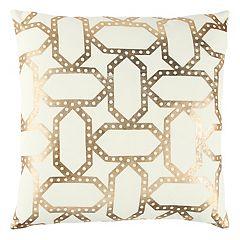 Rizzy Home Geometric Metallic I Throw Pillow