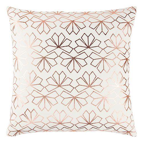 Rizzy Home Geometric Metallic II Throw Pillow