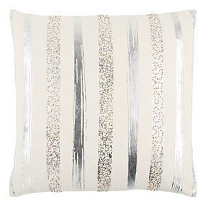 Rizzy Home Metallic Stripe Throw Pillow