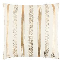 Rizzy Home Metallic Stripe Throw Pillow