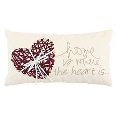 Rizzy Home ''Home Is Where The Heart Is'' Oblong Throw Pillow