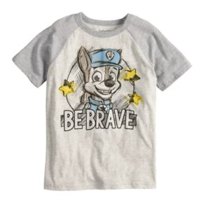 "Boys 4-10 Jumping Beans® Paw Patrol Chase ""Be Brave"" Raglan Graphic Tee"