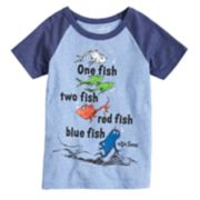 "Boys 4-10 Jumping Beans® Dr. Suess ""One Fish Two Fish"" Raglan Graphic Tee"