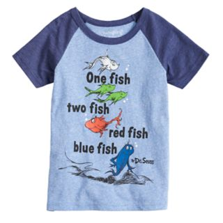 """Boys 4-10 Jumping Beans® Dr. Suess """"One Fish Two Fish"""" Raglan Graphic Tee"""