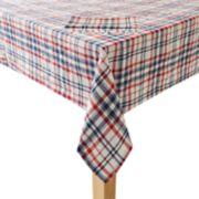 Celebrate Americana Together Plaid Tablecloth & Napkin Set