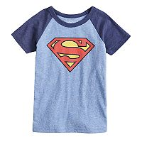 Boys 4-10 Jumping Beans® DC Comics Superman Logo Raglan Graphic Tee