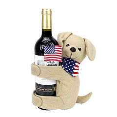 Celebrate Americana Together Dog Wine Bottle Hugger