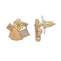 LC Lauren Conrad Flower Nickel Free Cluster Stud  Earrings