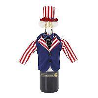 Celebrate Americana Together Uncle Sam Wine Bottle Cover
