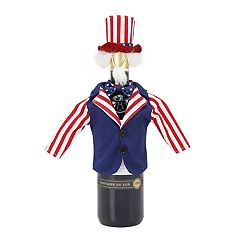 Celebrate Americana Together Uncle Sam Wine Bottle Cover