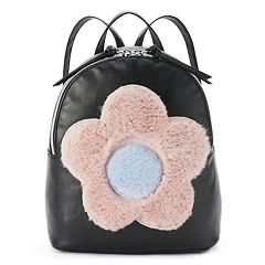T-Shirt & Jeans Plush Flower Mini Backpack
