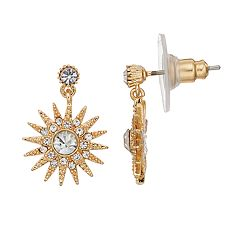 LC Lauren Conrad Starburst Nickel Free  Drop Earrings