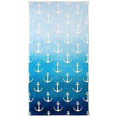Destinations Ombre Anchor Bath Towel